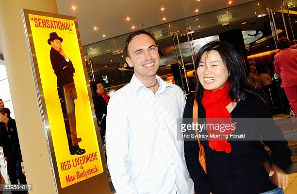 33yr old small business operator Lily Zhang and 35yr old customs broker Colin Gunn about to see the producers at The Lyric theatre 11 June 2005 SMH...