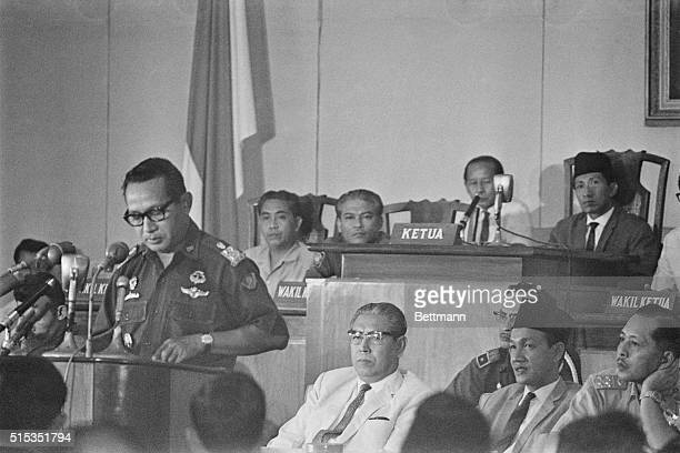 3/4/1967Jakarta Indonesia Indonesia's de factor President Gen Suharto addresses Parliament March 4 for the first time since President Sukarno turned...