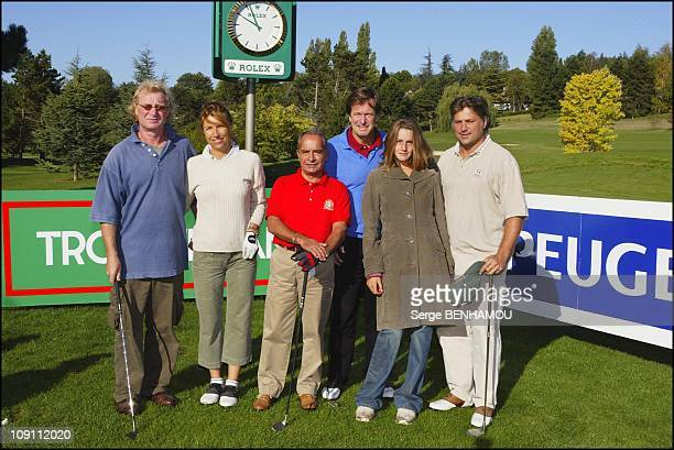 34Th Lancome Golf Trophy 2003 On September 14 2003 In StNom La Breteche France Jp Rives With His Girl Friend Yves St Martin Hubert Auriol With His...