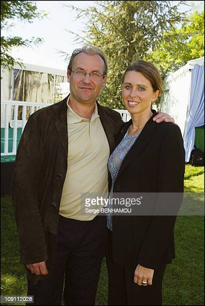 34Th Lancome Golf Trophy 2003. On September 14, 2003 In St.Nom La Breteche, France. Laurent Fignon With His Wife.