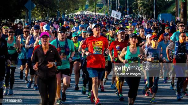 34th Los Angeles Marathon Stadium to the Sea March 24 2019 won by Elisha Barno Male and Askale Merachi female