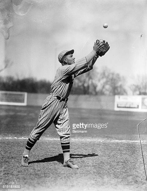 San Antonio, TX: Melvin Ott, star outfielder with the New York Giants photographed during spring training in Texas.