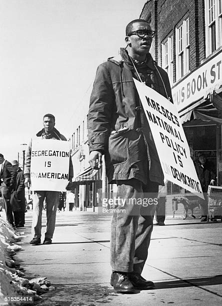 3/5/1960East Lansing MI Ernest Green first Negro graduate of Little Rock's Central High School and now President of the NAACP chapter at Michigan...