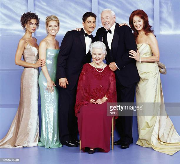 LIVES 35th Anniversary Pictured Kristian Alfonso as Hope Williams Brady Melissa Reeves as Jennifer Horton Bryan Dattilo as Lucas Roberts Frances Reid...