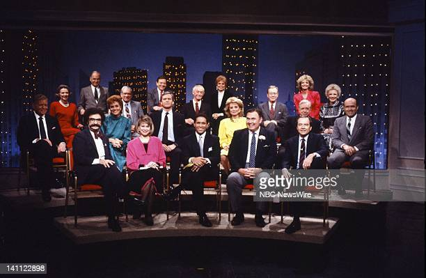 TODAY '35th Anniversary' Pictured NBC News' Gene Shalit Jane Pauley Bryant Gumbel Willard Scott John Palmer former TODAY cast Jack lescoulie Lee...