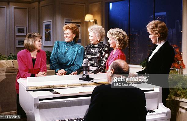 TODAY 35th Anniversary Pictured NBC News' Jane Pauley former TODAY Girls Lee Meriweather Helen O'Connell Florence Henderson Betsy Palmer on the 35th...