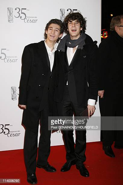 35th Cesar Awards Ceremony Arrivals In Paris France On February 27 2010Vincent Lacoste Anthony Sonigo
