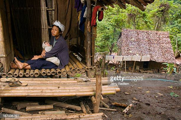 A 35yearold refugee mother of seven sits on the stoop with her threeweekold baby in the new arrivals section of the camp They have been in the camp...