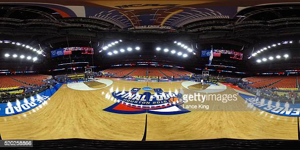 A 360degree view ahead of the game between the Villanova Wildcats and the North Carolina Tar Heels during the 2016 NCAA Men's Final Four Championship...