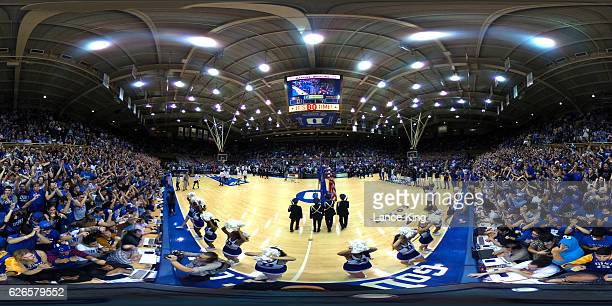 A 360degree view prior to the game between the Michigan State Spartans and the Duke Blue Devils at Cameron Indoor Stadium on November 29 2016 in...