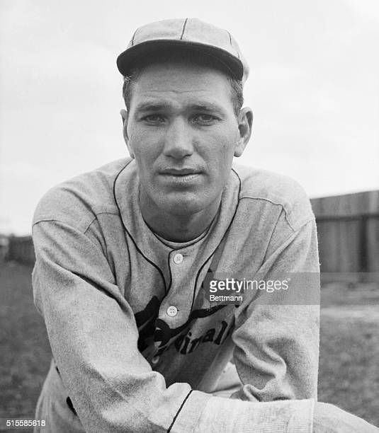 """Brandenton, FL: Spring training with the Cards. Jerome """"Dizzy"""" Dean, Famous hurler of the World's Champion St. Louis Cardinals, shown at spring..."""