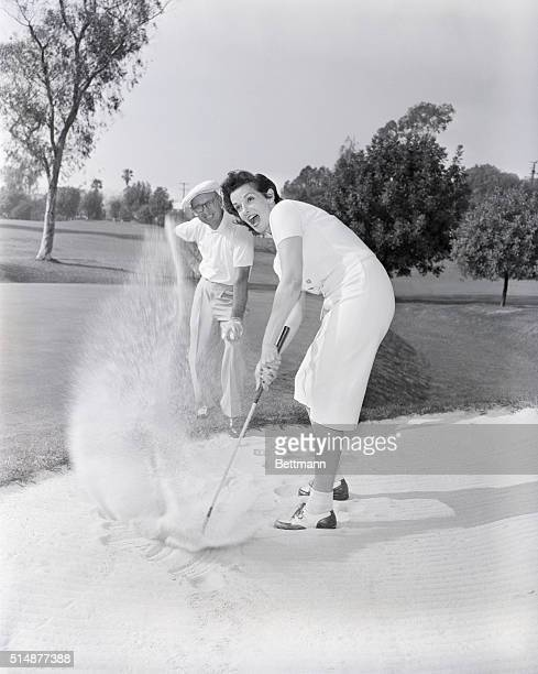 3/7/58Las Vegas Nevada Selected as the official hostess for the 6th annual $40000 Las Vegas Golf Tournament movie star Jane Russell is getting into...