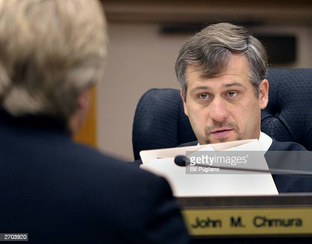 37th District Court Judge John Chmura tells Kimberley Mathers' attorney Michael Smith that he is issuing a bench warrant for Mathers' arrest after...