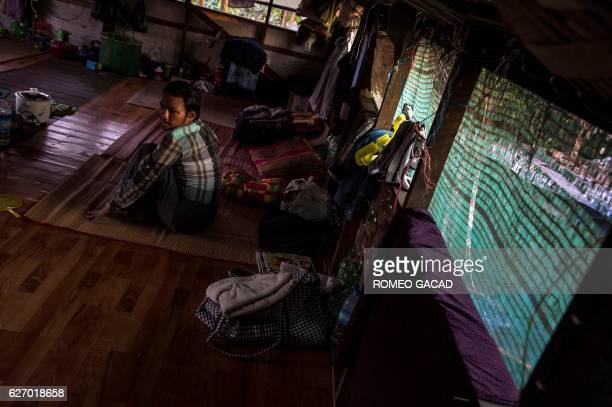 A 38year old Myanmar male patient living with HIV virus who was infected by a sex worker rests at the National League for Democracy HIV/AIDS Center...