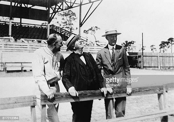 3/9/1927Fort Myers FL Thomas A Edison the electrical wizard visits the spring training camp of the Philadelphia Athletics at Fort Myers to witness...