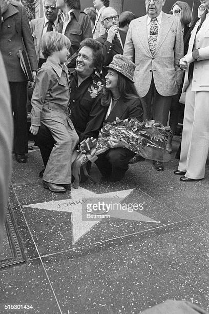 3/9/1976Hollywood CAThe King of Country Music Johnny Cash gets a big laugh from his son John Carter Cash as his wife June looks on during Hollywood...