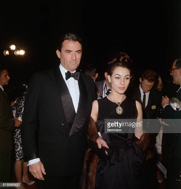 3/9/62Los Angeles California Actor Gregory Peck and his wife at the Academy Awards