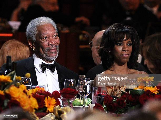 39th Life Achievement Award recipient Morgan Freeman and daughter Morgana Freeman attend the 39th AFI Life Achievement Award honoring Morgan Freeman...