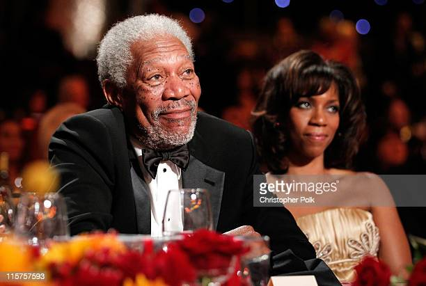 39th Life Achievement Award recipient Morgan Freeman and daughter Morgana Freeman in the audience at the 39th AFI Life Achievement Award honoring...