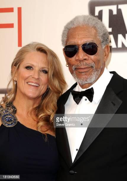 39th Life Achievement Award recipient Morgan Freeman and Lori McCreary arrive at AFI's 39th Annual Achievement Award Honoring Morgan Freeman at Sony...