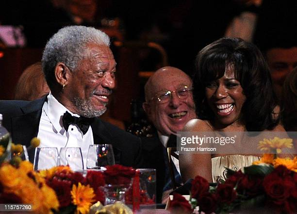 39th Life Achievement Award recipient Morgan Freeman and Morgana Freeman in the audience at the 39th AFI Life Achievement Award honoring Morgan...