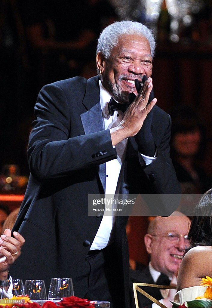 39th Life Achievement Award recipient Morgan Freeman in the audience at the 39th AFI Life Achievement Award honoring Morgan Freeman held at Sony Pictures Studios on June 9, 2011 in Culver City, California. The AFI Life Achievement Award tribute to Morgan Freeman will premiere on TV Land on Saturday, June 19 at 9PM