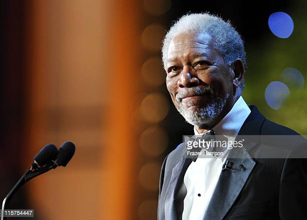 39th Life Achievement Award recipient Morgan Freeman speaks at the 39th AFI Life Achievement Award honoring Morgan Freeman held at Sony Pictures...