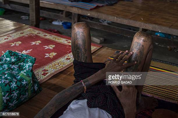 A 39year old Myanmar male patient positive with HIV who was infected by a sex worker rests at the National League for Democracy HIV/AIDS Center with...