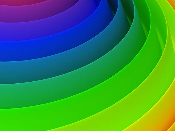 3d abstract colourful hi tech background