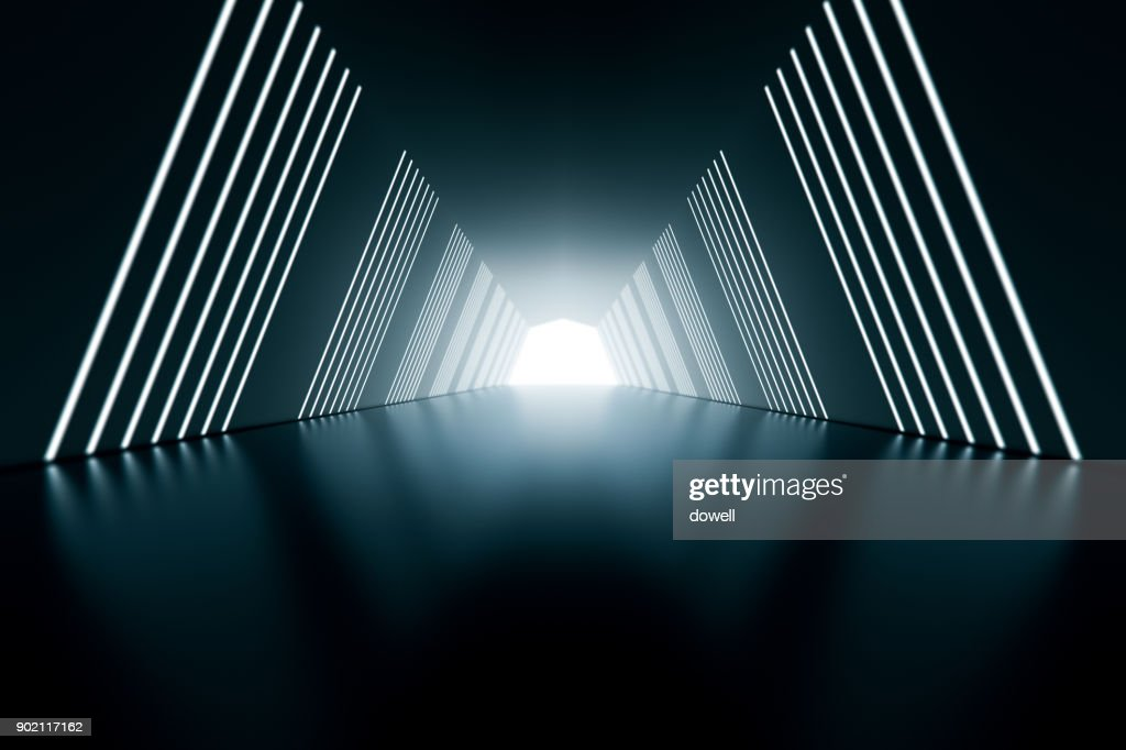 3d abstract tunnel : Foto de stock