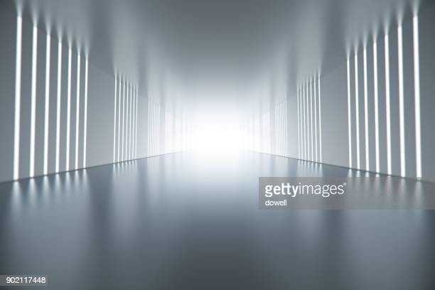 3d abstract tunnel - perspectiva espacial - fotografias e filmes do acervo