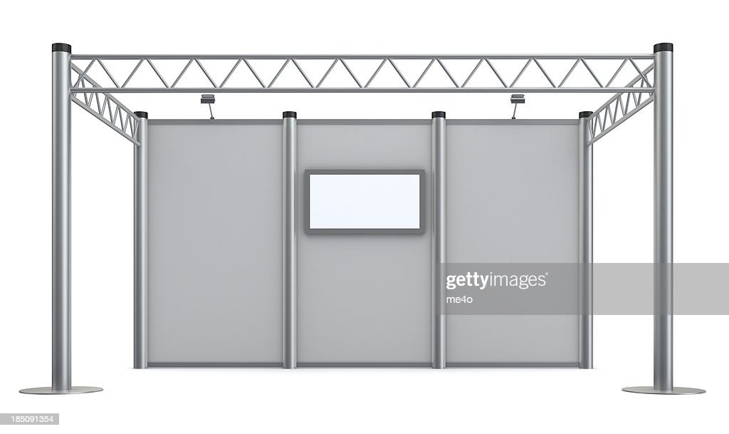 3d blank advertisement Exhibition stand with video wall : Stock Photo