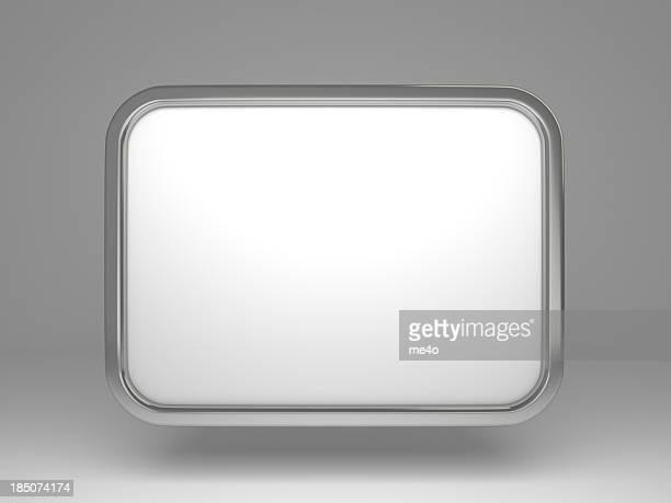3d blank poster frame