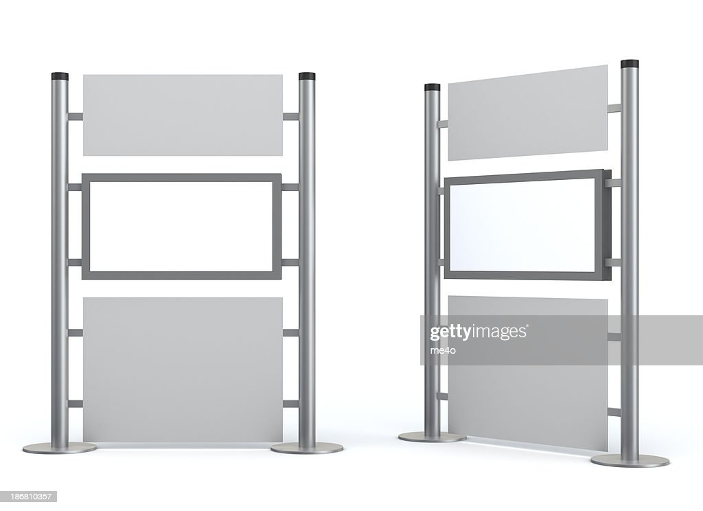 3d blank  stand with video lcd display : Stock Photo