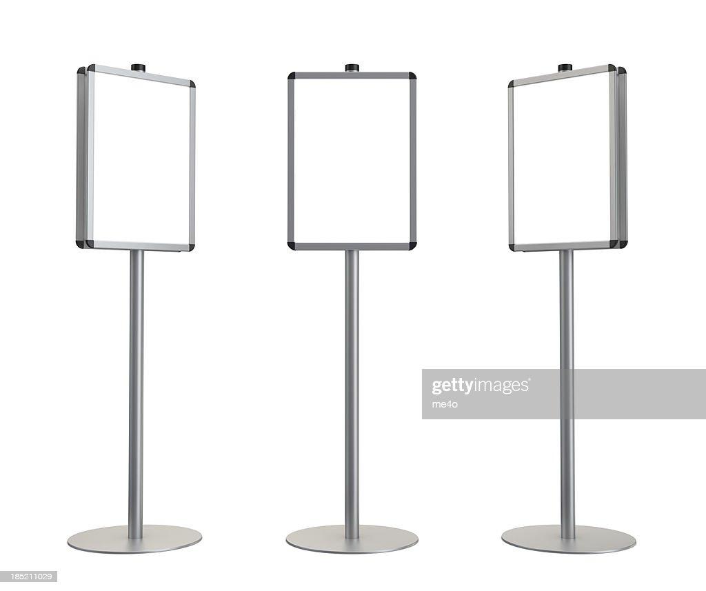 3d blank standing advertising digital poster : Stock Photo