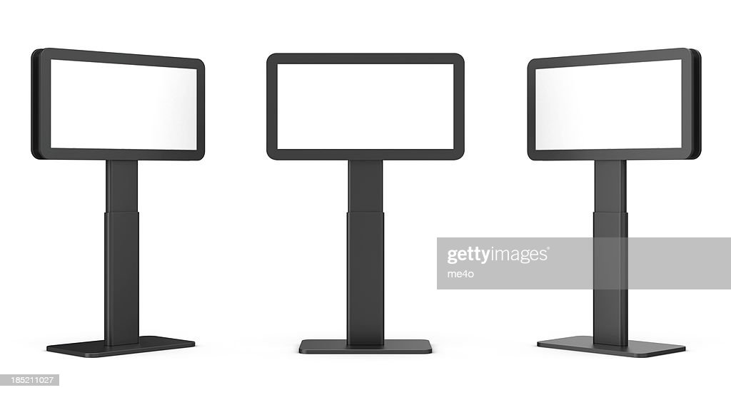 3d blank video display stand : Stock Photo