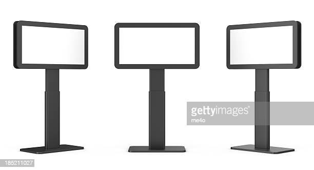 3d blank video display stand - kiosk stock pictures, royalty-free photos & images