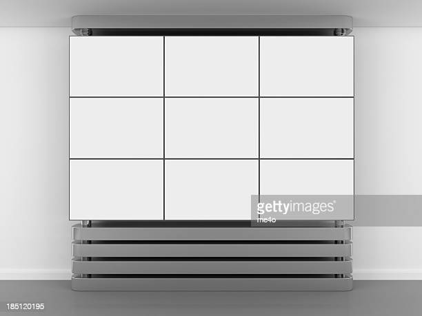 3d blank video wall panel - large scale screen stock photos and pictures
