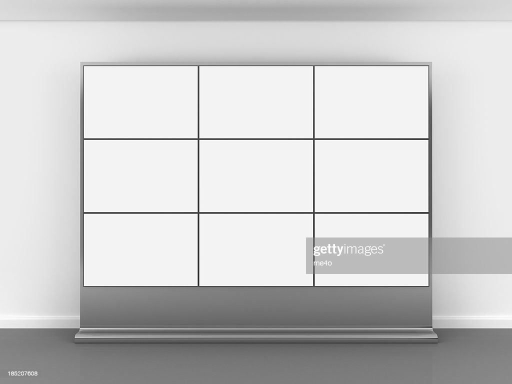 3d blank video wall : Stock Photo