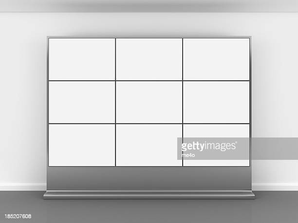 3d blank video wall - kiosk stock pictures, royalty-free photos & images
