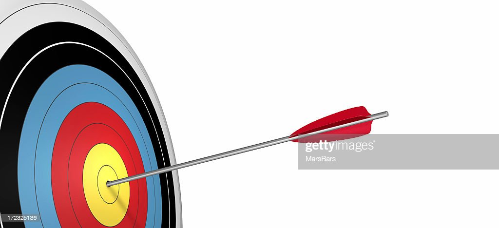 3d bullseye and arrow : Stock Photo