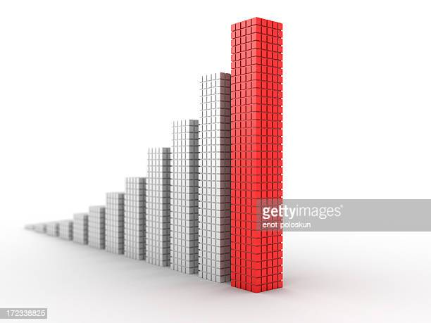 3d chart - bar graph stock pictures, royalty-free photos & images