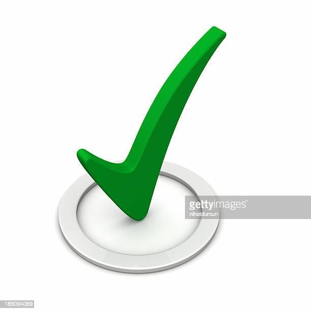 3 d círculo verde marcada com