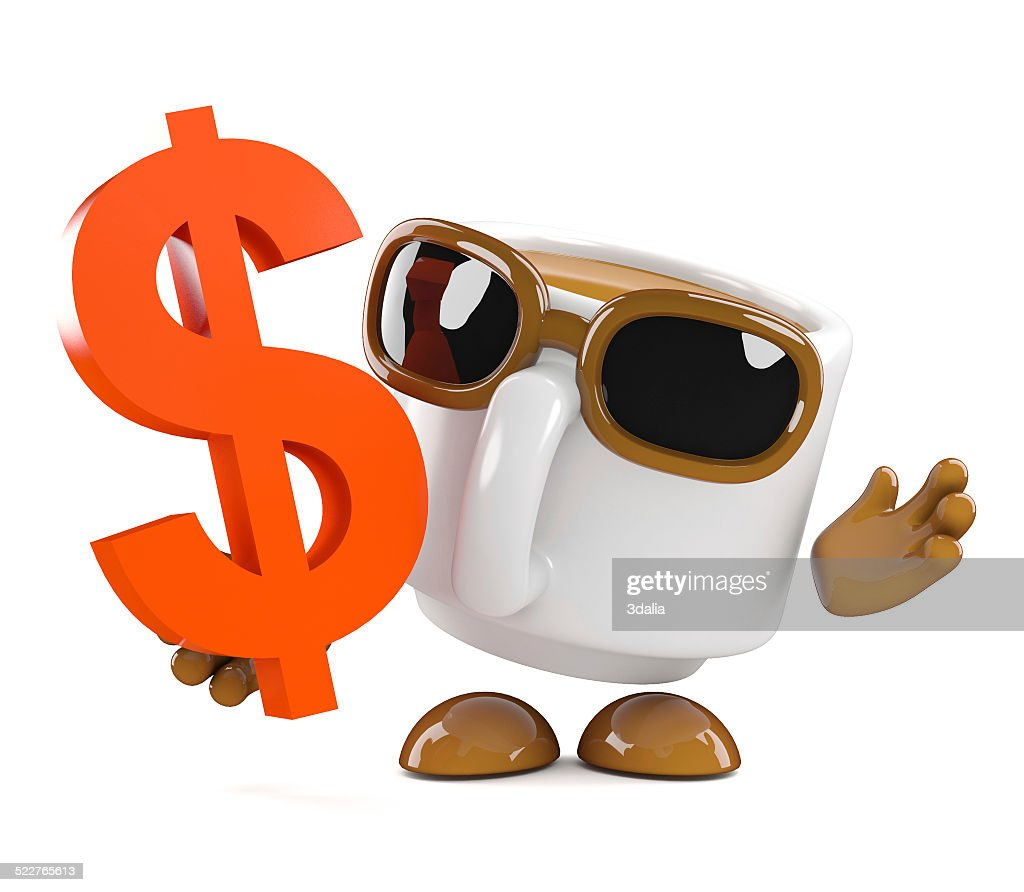 3d Coffee Cup With Us Dollar Symbol Stock Photo Getty Images