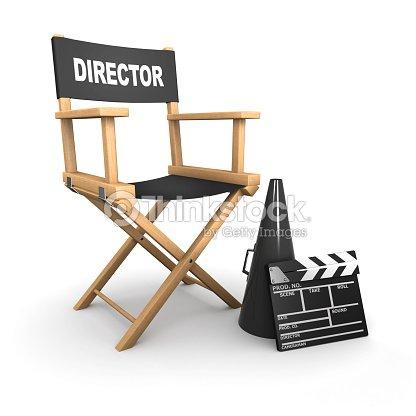 Directors Chair On Film Set