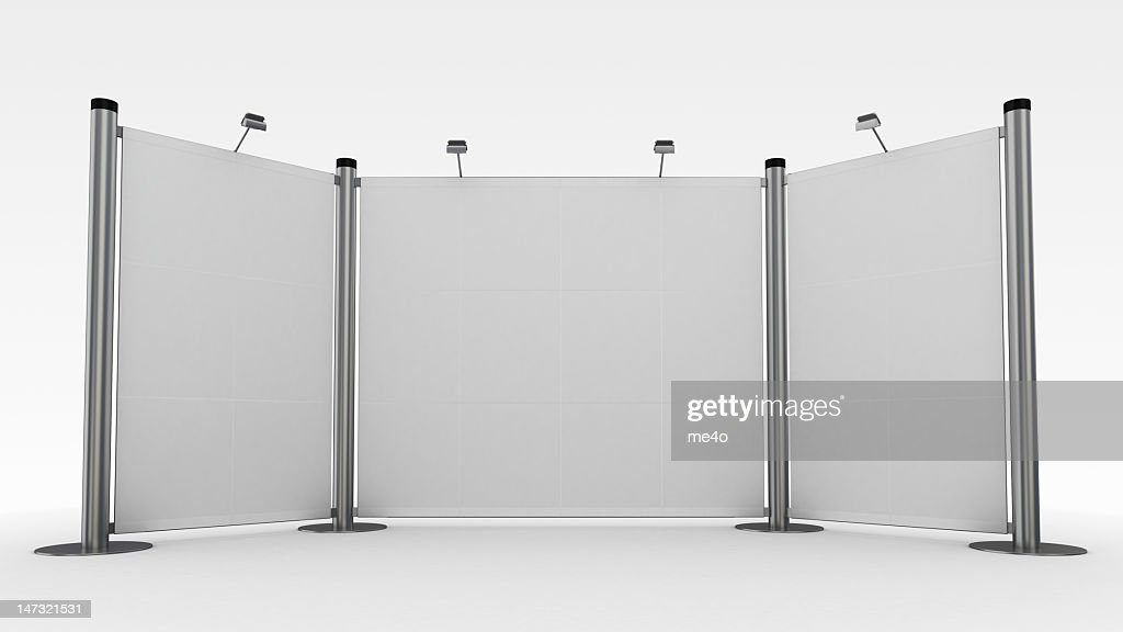 3d display,advertisement exhibition stand : Stock Photo