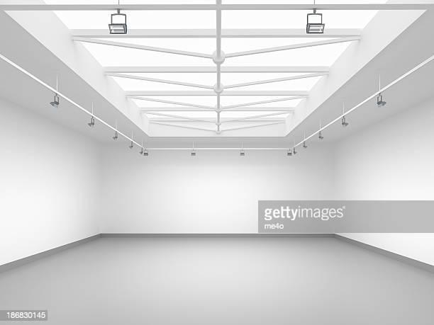 3 d leere Galerie
