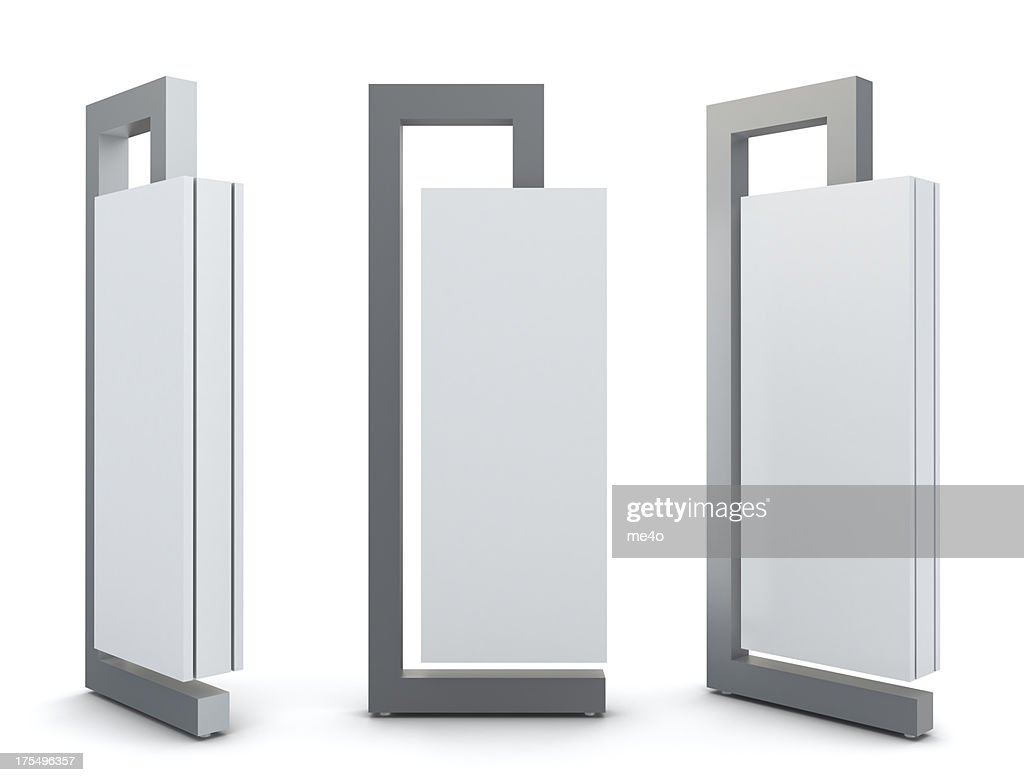 3d exhibition advertising panels : Stock Photo