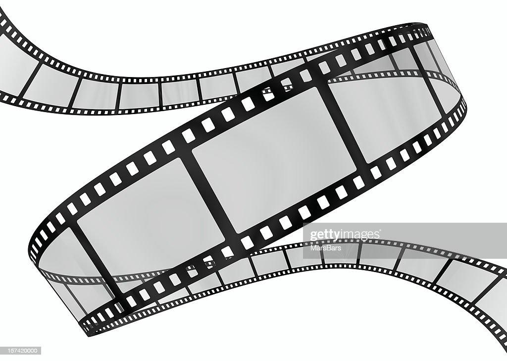 3 d film Spirale auf Weiß : Stock-Foto