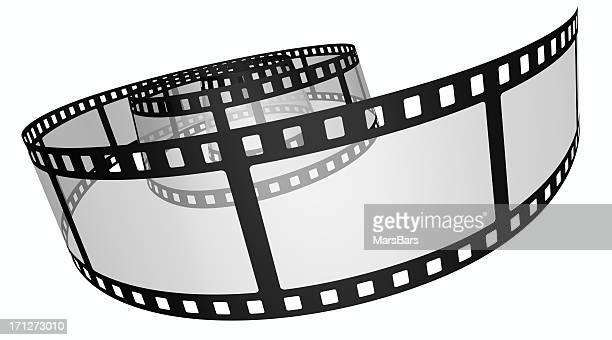 3d film spiral on white
